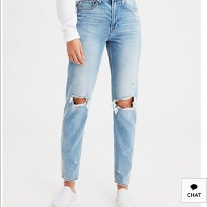 "Women's AE Distressed ""Mom Jean"""